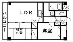 新潟県新潟市西区小針上山の賃貸マンションの間取り