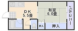 新原第5マンション[301号室]の間取り