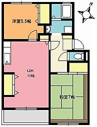 サンライズマンション[305号室]の間取り