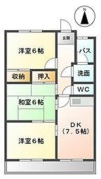 シャトーカナデ[2階]の間取り