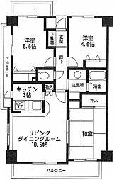 コスモ武蔵浦和エルフィン[1階]の間取り