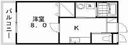 新潟県新潟市中央区南笹口2丁目の賃貸アパートの間取り