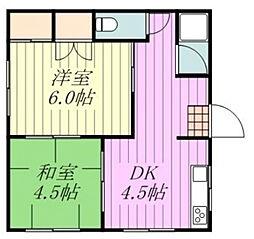愛媛県松山市天山3丁目の賃貸アパートの間取り