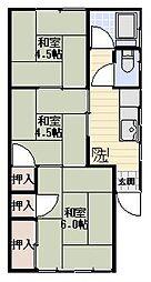 コーポ山口[D号室号室]の間取り