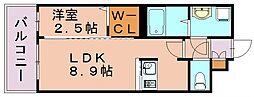 グランフォーレ博多駅東プレミア[5階]の間取り