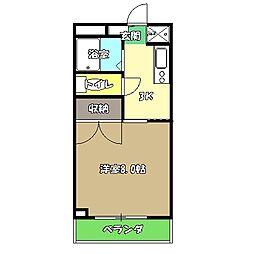 高知県高知市弥生町の賃貸マンションの間取り