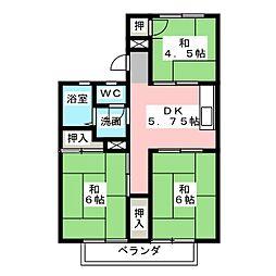サンハイツ岩田[2階]の間取り