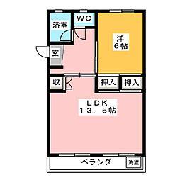 第一関ビル[2階]の間取り