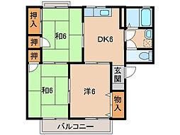 セジュール梅ノ木[2階]の間取り