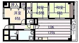 シャトーアルベール[4階]の間取り