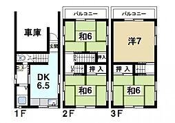 [一戸建] 奈良県奈良市肘塚町 の賃貸【/】の間取り