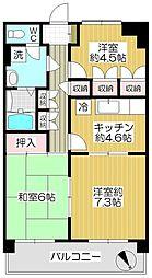 スエタケビル[6階]の間取り