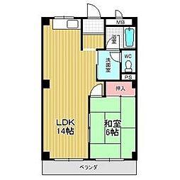 グリーンカーサ坂野[2階]の間取り