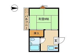 東京都大田区西蒲田1丁目の賃貸アパートの間取り