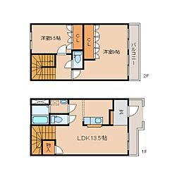 [テラスハウス] 静岡県静岡市清水区梅が岡2丁目 の賃貸【/】の間取り