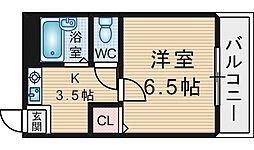 GARDEN TREE岡町[203号室]の間取り