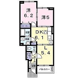 プラシード・K B[1階]の間取り