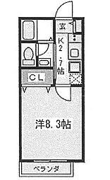 東京都江戸川区東葛西3丁目の賃貸アパートの間取り