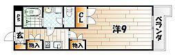 シャルマンステューディオII[4階]の間取り