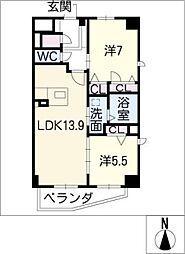 ラマルティーヌ[2階]の間取り