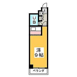 ライオンズマンション中央[8階]の間取り