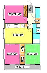 クリオ所沢壱番館[2階]の間取り