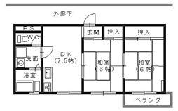 広島県呉市広中新開2丁目の賃貸マンションの間取り