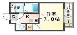 ラージヒル尼崎東[3階]の間取り