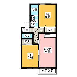 サンピア高根台 A棟[1階]の間取り