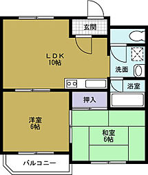 タウンハウス本田[7階]の間取り