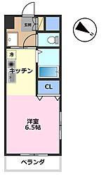 ジュネスベウラ[4階]の間取り