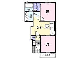 Park side亀山 A[102号室]の間取り