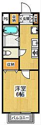 東京都世田谷区砧5丁目の賃貸アパートの間取り