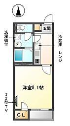 愛知県津島市西愛宕町2丁目の賃貸アパートの間取り