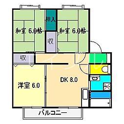 フローラル赤堤 D棟[2階]の間取り