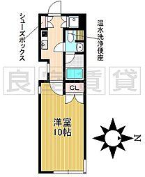 名古屋市営名城線 茶屋ヶ坂駅 徒歩9分の賃貸マンション 4階1Kの間取り
