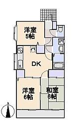 パサージュマンション[1階]の間取り