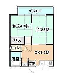 木村コーポ[203号室]の間取り