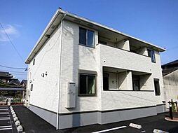愛知県西尾市羽塚町北側の賃貸アパートの外観