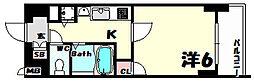 プレサンス三ノ宮駅前プライムタイム[9階]の間取り