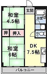 瀬田サンプラザマンション[204号室号室]の間取り