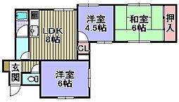 福本ハイツ2[201号室]の間取り