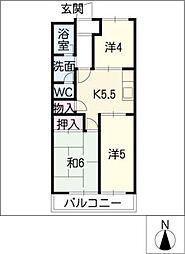 タカネハイツ[2階]の間取り