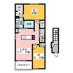 シエル・エトワレ[2階]の間取り