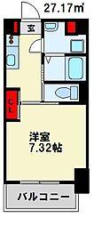 仮) 折尾4丁目マンション 7階1Kの間取り