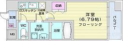 コンフォートレジデンス仙台東口 6階1Kの間取り