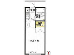 リバーサイド金田[1階]の間取り