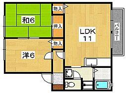 レジデンスクズハ[2階]の間取り