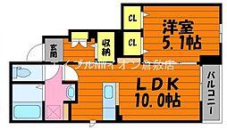 JR山陽本線 中庄駅 徒歩20分の賃貸アパート 1階1LDKの間取り