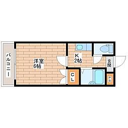 ワイケーマンション[603号室]の間取り